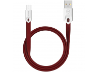 Cablu Date si Incarcare USB la MicroUSB McDodo Gorgeous CA-0432, 2.4A, 1 m, Rosu, Blister