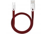 Cablu Date si Incarcare USB la USB Type-C McDodo Gorgeous CA-4884, 2.4A, 1 m, Rosu, Blister