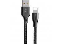 Cablu Date si Incarcare USB la Lightning McDodo Warrior CA-5150, 2.4A, 1.2 m, Negru, Blister