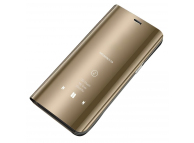 Husa Plastic OEM Clear View pentru Huawei P smart 2020, Aurie, Blister