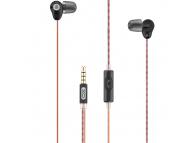 Handsfree Casti In-Ear XO Design EP9, Cu microfon, 3.5 mm, Negru, Blister