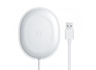 Incarcator Retea Wireless Baseus Jelly Qi 15W + cablu USB Typ C - 1m, Alb, Blister WXGD-02