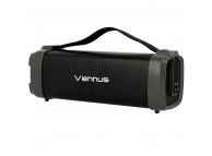 Boxa portabila Bluetooth Vennus TWS F52, cu Radio, Neagra, Blister