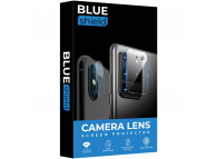 Folie Protectie Camera spate BLUE Shield pentru Huawei P40 lite, Plastic, Blister