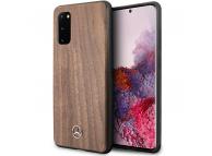 Husa Plastic - TPU MERCEDES Wood pentru Samsung Galaxy S20 G980 / Samsung Galaxy S20 5G G981, Maro MEHCS62VWOLB