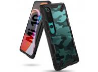 Husa Plastic - TPU Ringke Fusion X Design Camo pentru Xiaomi Mi 10 5G / Xiaomi Mi 10 Pro 5G, Neagra, Blister XDXI0007