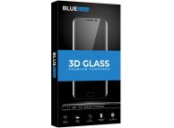 Folie Protectie Ecran BLUE Shield pentru Huawei P30 lite, Sticla securizata, Full Face, Full Glue, 0.33mm, 9H, 3D, Neagra, Blister