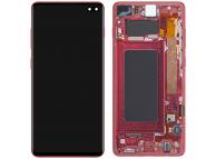 Display - Touchscreen Samsung Galaxy S10+ G975, Cu Rama, Rosu (Cardinal Red) GH82-18849H