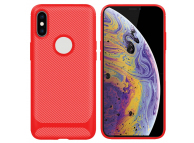 Husa TPU Enkay Carbon ENK-PC022 pentru Apple iPhone XS Max, Rosie, Blister
