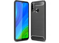 Husa TPU OEM Carbon pentru Huawei P smart 2020, Neagra