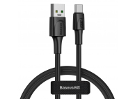 Cablu Date si Incarcare USB la USB Type-C Baseus VOOC, Quick Charge 3.0, 5 A, 1 m, Negru, Blister CATSW-F01