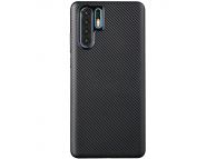 Husa TPU OEM Carbon Fiber Antisoc pentru Huawei P30 Pro, Neagra, Bulk