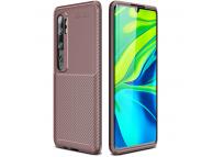 Husa TPU OEM Carbon Fiber Antisoc pentru Xiaomi Mi Note 10 Lite, Maro, Bulk