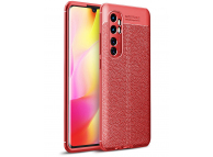 Husa TPU OEM Litchi Antisoc pentru Xiaomi Mi Note 10 Lite, Bleumarin, Bulk