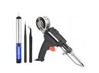 Set Letcon / Ciocan de lipit electric 60W cu instrumente ajutatoare DIY