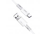Cablu Date si Incarcare USB la USB Type-C Joyroom S-M406 Rebar, Fast Charging 5A, 1 m, Alb, Blister
