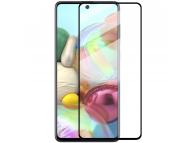 Folie Protectie Ecran Enkay pentru Samsung Galaxy A51 A515, Sticla securizata, Full Face, Full Glue, Blister