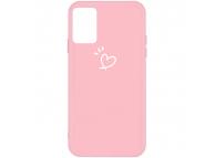 Husa TPU OEM Antisoc pentru Samsung Galaxy A71 A715, Heart, Roz, Bulk