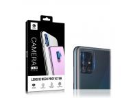 Folie Protectie Camera spate Mocolo pentru Samsung Galaxy A51 A515, Sticla securizata, 2.5 D, 9H, Blister