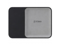 Incarcator Retea Wireless Pitaka Air Tray Crystal Sylver, Fast Wireless (10W / 7.5W), Fibra Aramida, Cu Organizator, Negru Argintiu, Blister ATR1003B