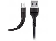 Cablu Date si Incarcare USB la MicroUSB MaXlife MXUC-01, 1 m, Negru, Blister