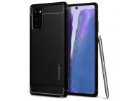 Husa TPU Spigen Rugged Armor pentru Samsung Galaxy Note 20 N980 / Samsung Galaxy Note 20 5G N981, Neagra ACS01417