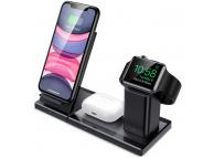 Incarcator Retea Wireless ESR pentru Apple iPhone / iWatch / Airpods, Quick Charge, 3in1, Negru, Blister