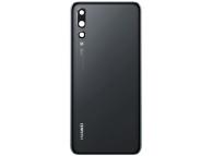 Capac Baterie - Geam Camera Spate Huawei P20 Pro, Negru, Second Hand