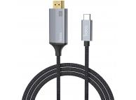 Adaptor Audio si Video HDMI la USB Type-C HOCO UA13, 1.8 m, Gri, Blister