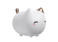 Mini lampa veghe Baseus LED Cute Kitty, Alba Blister DGAM-A02