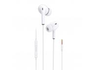 Handsfree Casti In-Ear Dudao X14, Cu microfon, 3.5 mm, Alb
