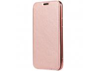 Husa Piele Forcell Electro cu spatele transparent pentru Samsung Galaxy A20e, Roz Aurie, Bulk