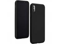 Husa TPU Forcell Silicone pentru Samsung Galaxy A41, Neagra, Bulk