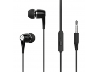 Handsfree Casti In-Ear XO Design EP21, Cu microfon, 3.5 mm, Negru, Blister