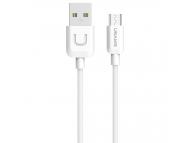 Cablu Date si Incarcare USB la MicroUSB Usams U Turn SJ098, 1 m, Alb, Blister
