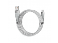 Cablu Date si Incarcare USB la MicroUSB Dudao Cu suport organizare magnetic, 5A, 1 m, Gri, Blister L1xsM