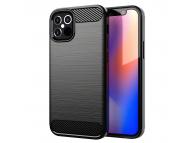 Husa TPU Forcell Carbon pentru Apple iPhone 12 mini, Neagra
