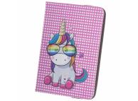 Husa Poliuretan OEM Rainbow Unicorn pentru tableta, 7-8 inci, Roz
