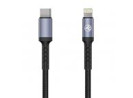 Cablu Date si Incarcare USB Type-C la Lightning Tellur 2A, PD18W, 1 m, Negru, Blister TLL155384