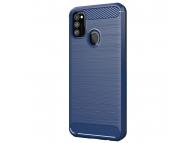 Husa TPU OEM Carbon pentru Samsung Galaxy M21, Bleumarin, Bulk