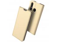 Husa Piele DUX DUCIS Skin Pro pentru Huawei P30 lite, Aurie, Blister