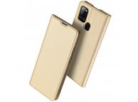 Husa Piele DUX DUCIS Skin Pro pentru Samsung Galaxy A21, Aurie, Blister