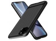 Husa TPU OEM Carbon Protect pentru Apple iPhone 11 Pro, Neagra, Bulk