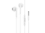 Handsfree Casti EarBuds HOCO M64 Melodious, Cu microfon, 3.5 mm, Alb, Blister