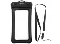 Husa Plastic Usams Waterproof, YD007, pentru Telefon 6 inci, Neagra 6FSD701