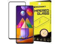 Folie Protectie Ecran WZK pentru Samsung Galaxy M31s, Sticla securizata, Full Face, Full Glue Neagra, Blister