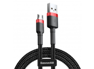 Cablu Date si Incarcare USB la MicroUSB Baseus Cafule, 1 m, Negru Rosu CAMKLF-B91