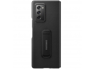 Husa Fibra Aramida Samsung Galaxy Fold 2 F916, Standing Cover, Neagra, Blister EF-XF916SBEGEU