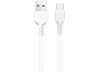 Cablu Date si Incarcare USB la USB Type-C HOCO X20, 1 m, Alb, Blister