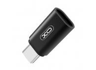 Adaptor Conversie MicroUSB la USB Type-C XO Design NB131, Negru, Blister